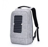 Waterproof 900D polyester school smart usb solar power backpack laptop bag