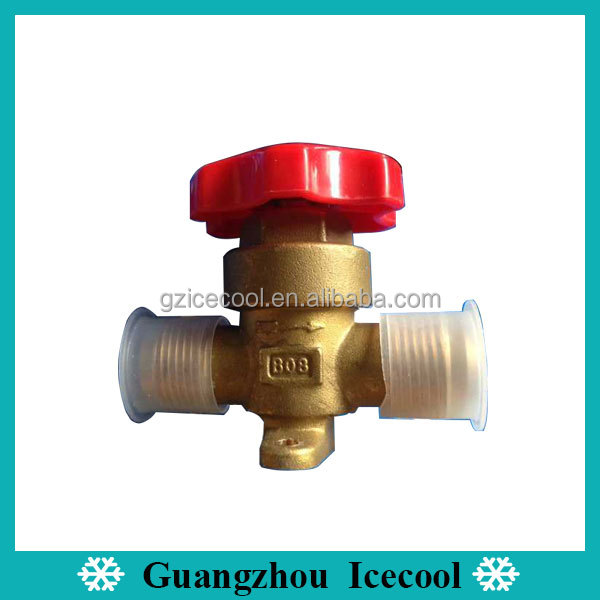 Shut off valve structure Castel 5/8 Flare joining hand valve 6210/5