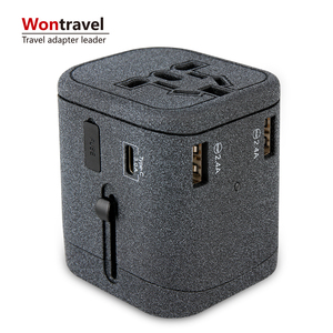 Newest wholesale gift items smart USB port socket charger universal travel adapter with Type-C and 3 USB port