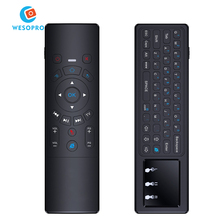T6 gyroscope mouse T6 air mouse with infrared remote control tv box remote