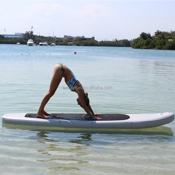 wholesale best sup cheap inflatable yoga board with woman