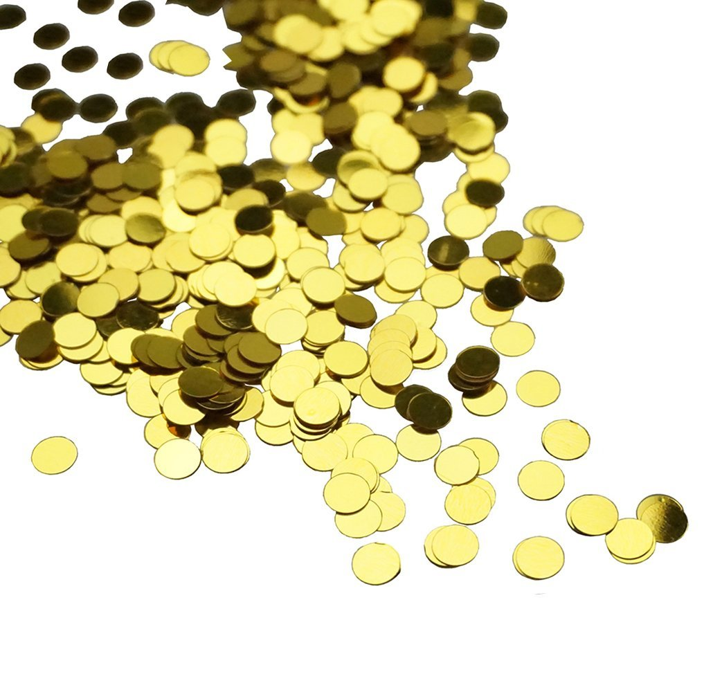 Get Quotations Gold Polka Dot Table Ballon Confetti Sequins For Diy Crafts And Party Supplies 1 Ounce By