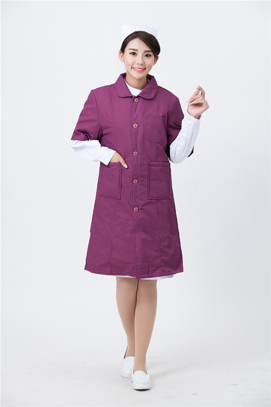 100% cotton new style high quality classic pink colorful promotional white male medical nurse uniform with pockets