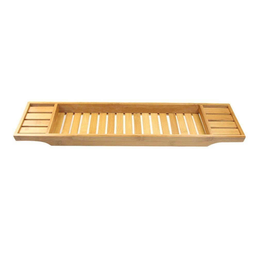 Buy Bamboo Spa Bath Rack Bathtub Shower Caddy Tray Bathroom Caddies ...