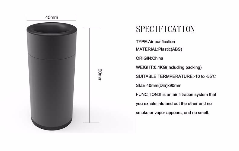 Mini Personal Smoking Air Purifier Charcoal Filter Smoke Buddy filter cartridge