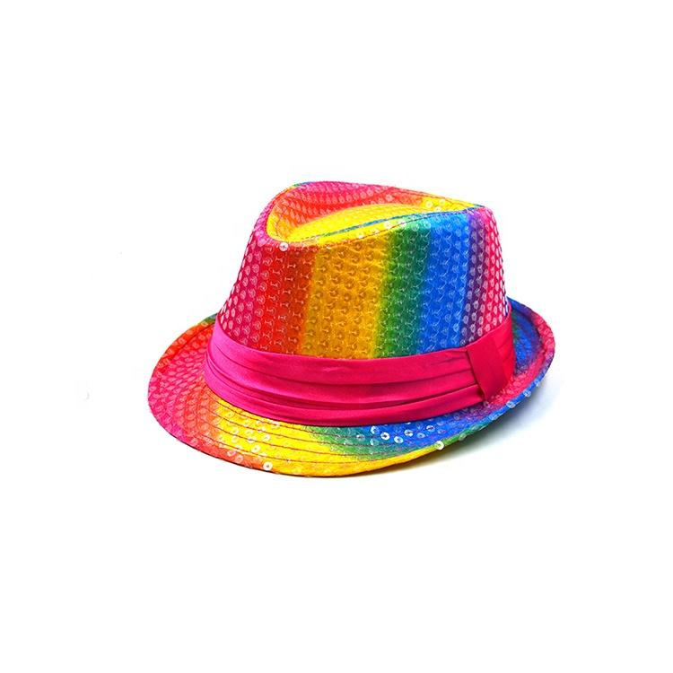 ビーチフロッピー抗 abraision 虹 fedora 帽子