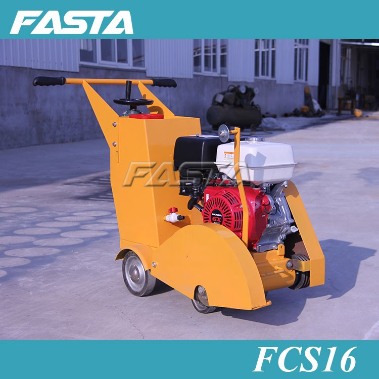 Walk behind gasoline honda road concrete cutter cutting saw machine