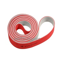 Customized single sided pu synchronous red rubber apl coating T10 timing belt