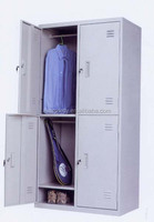 Modern Bedroom Safe Powder Coated Steel Storage 2 Door Clothing Steel Locker/Wardrobe