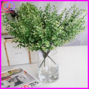 Wholesale Ornamental Green Eucalyptus Plastic Artificial Foliage For