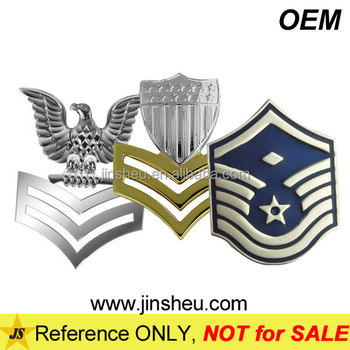 Wholesale Army Air Force Pin Customized Military Metal Rank Insignia