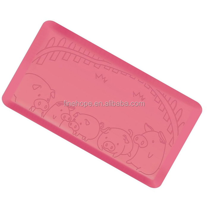 Rubber kitchen cutting gel floor mats