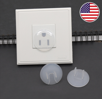 Baby Proofing Outlet Covers/drie-pin Elektrische Socket Cover/clear pvc kind veiligheid outlet plug cover