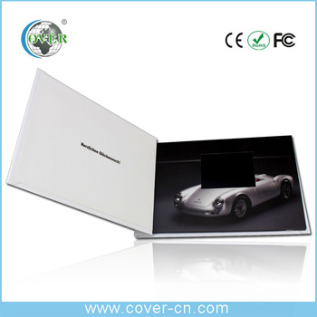 Promotional lcd video player brochure book for advertising