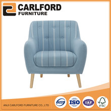 Blue Color Arabic Fabric Upholstered Sofa