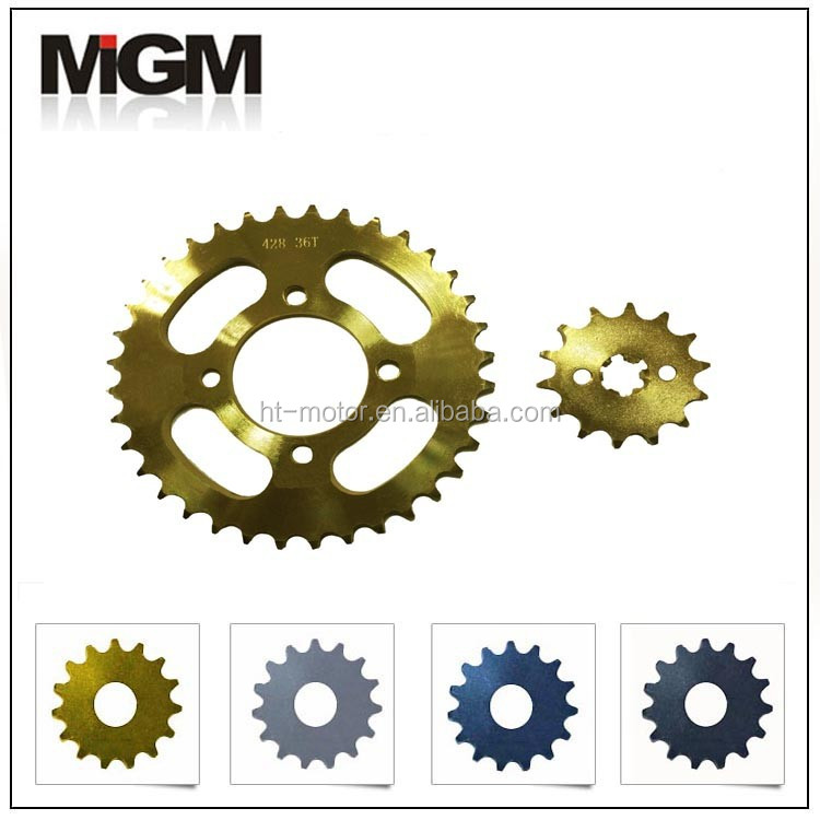 MGM best 520 motorcycle chain and 520 rear sprocket,also offer industrial sprockets and chains