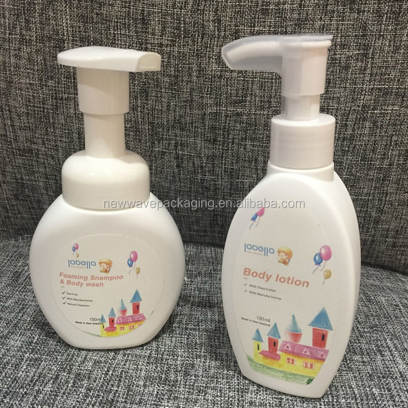 150ml 5oz kids shampoo foam pump bottle