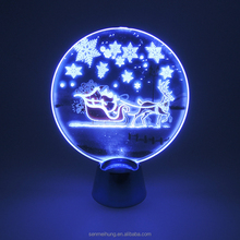 3d led table lamp night light with usb plug ,gift, decorate room