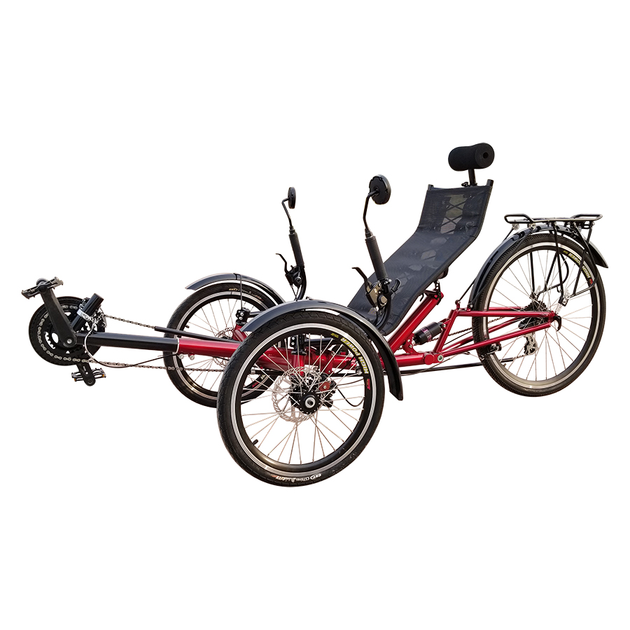 China Rear Suspension 20inch Three Wheel Recumbent Trike Foldable Bicycle sale