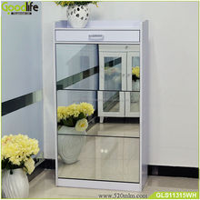 Mirrored Furniture Luxury Shoe Cabinet With Storage Drawers