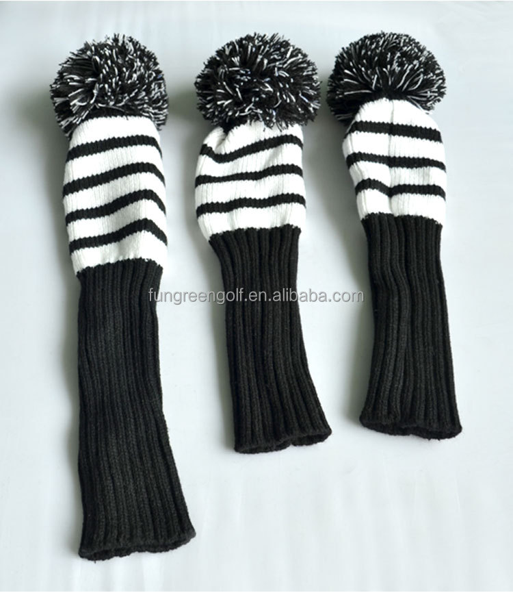 Knit Golf Headcover, Driver Fairway Wood Golf Headcover Set