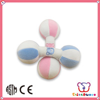 ICTI Factory best selling stuffed rattles for baby toys