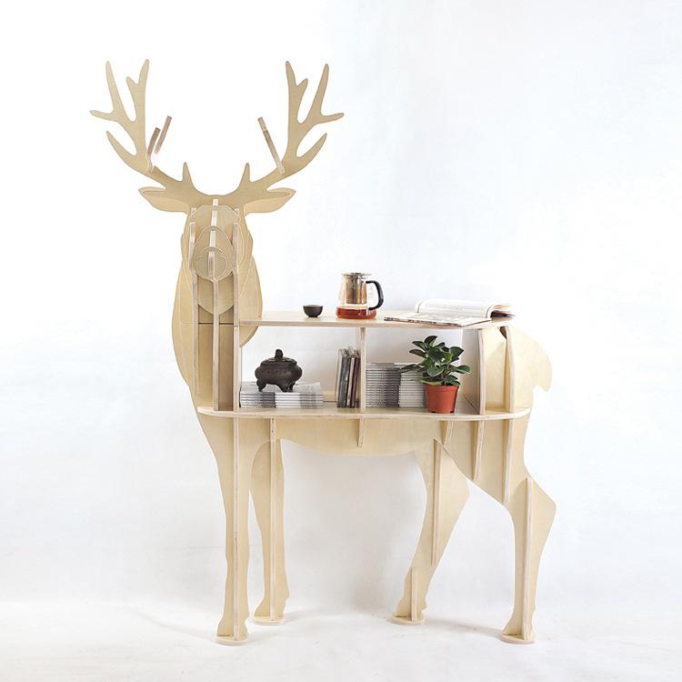 Mesa Lateral De Madeira Bétula 100 Elk Cervos Europeia Diy Home Decor Decorações