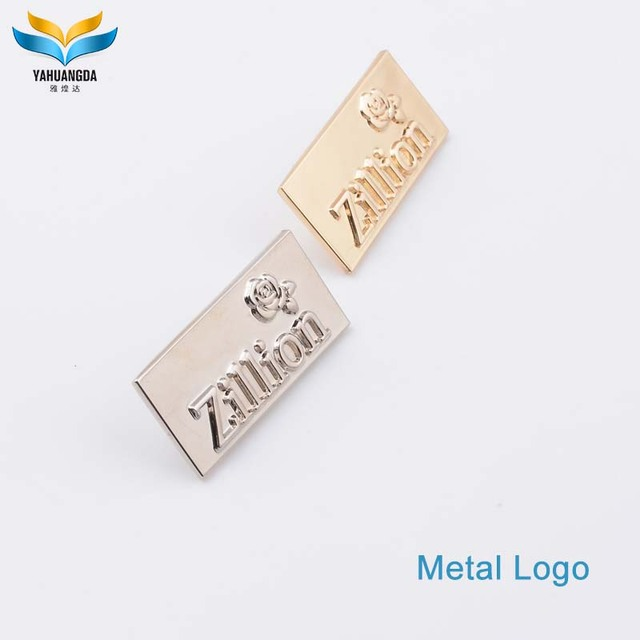 63b5642da9 customize metal brand logo design for bag parts and accessories