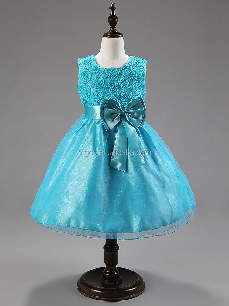 Mgoo Fashion Chiffon Fabric Girl Dress 1-14 Age Flower Dresses ...