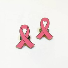 Fabricante Rosa Breast <span class=keywords><strong>Cancer</strong></span> <span class=keywords><strong>Awareness</strong></span> Ribbon Pin do Lapel Pin de Lapela