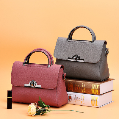 2018 OEM production Promotion stock lots pu leather handbag women hand bags popular fashion ladies bags
