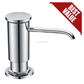 High Quality Replacement Chrome Sink Soap Dispenser with Lead free ABS Countertop Liquid Dish Pump PP