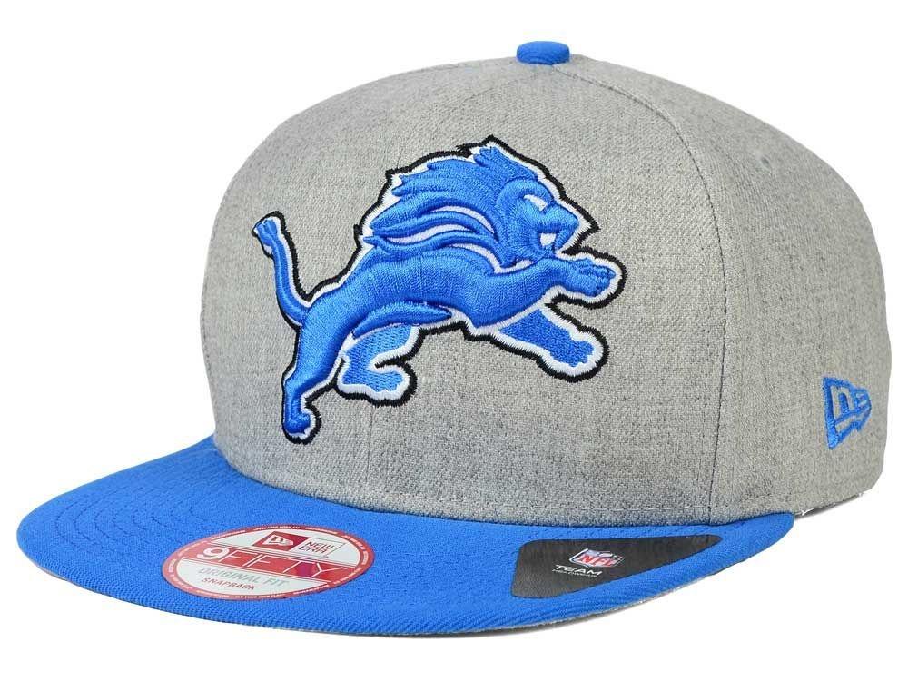 Get Quotations · New Era Detroit Lions 9Fifty Black   White Logo Adjustable Snapback  Hat NFL f8d10cc4c226