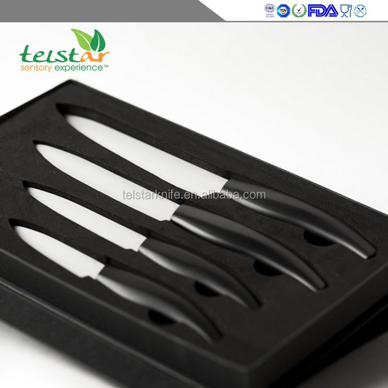 2015 New Design 6 piece kitchen Ceramic Knife set with black Gift Box