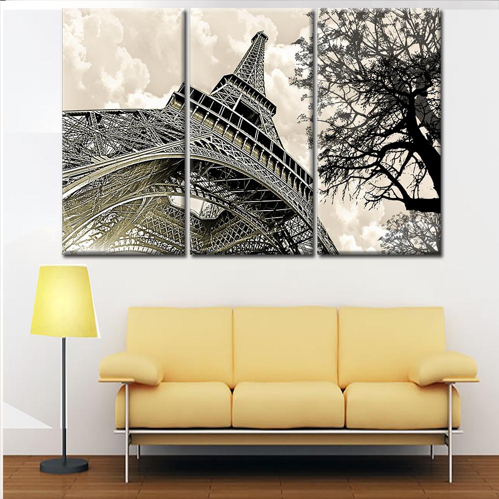 Wholesale Price Home Decor Eiffel Tower Landscape Canvas Print ...