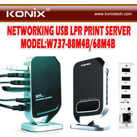 Networking USB 2.0 Print Server - Share 4 USB Devices (1000Mbps)
