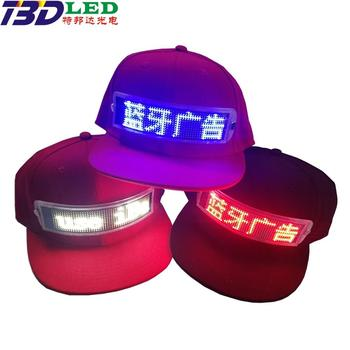 light up hat christmas blue flashing hats cap for party