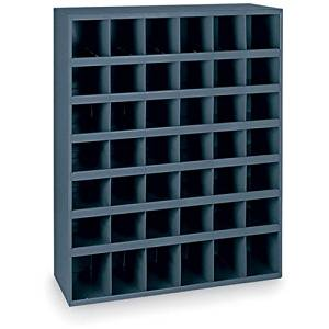 "Durham All-Welded Steel Bin Shelving - 33-3/4x12x42"" - (42) 5-3/8x11-7/8x5-1/2"" Bins"