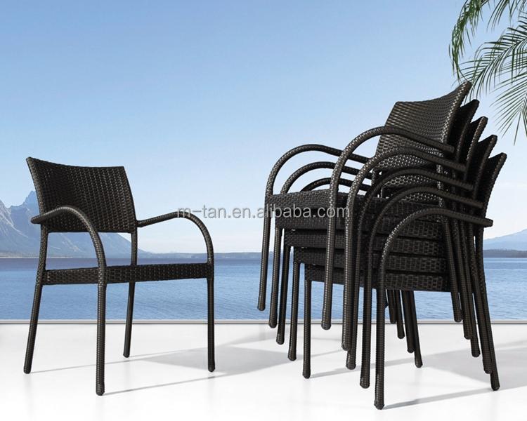 Rotan Stoel Goedkoop : Goedkope aluminium frame rieten eetkamer furniture stapelbaar