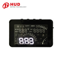 4 inch W3 LED Digital OBD-II HUD Head Up Display Car System SPEEDOMETER With RPM MPH speed (Miles/KM), RPM, Voltage, Water Temp