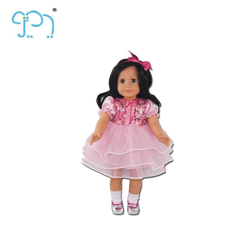 Nuevo Producto de 5 pulgadas de la muñeca bebé muñeca de goma con trajes de algodón de caramelo