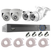Hot Sale!!! 4chs 3.0Megapixels POE NVR KITS Security Camera System