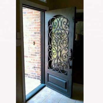 Newest Modern Iron Safety Door Design In Metal Heavy Duty