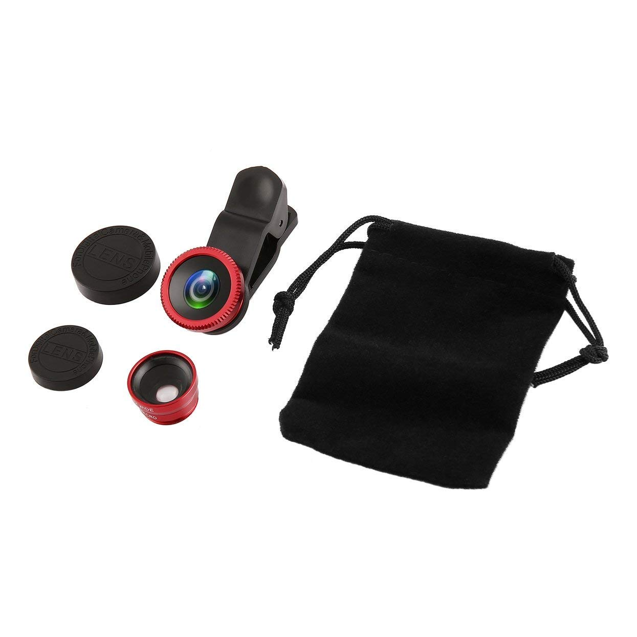 3 in 1 Wide Angle Macro Fisheye Lens Camera Mobile Phone Lens Portable Parts Universal for iPhone Android Phones