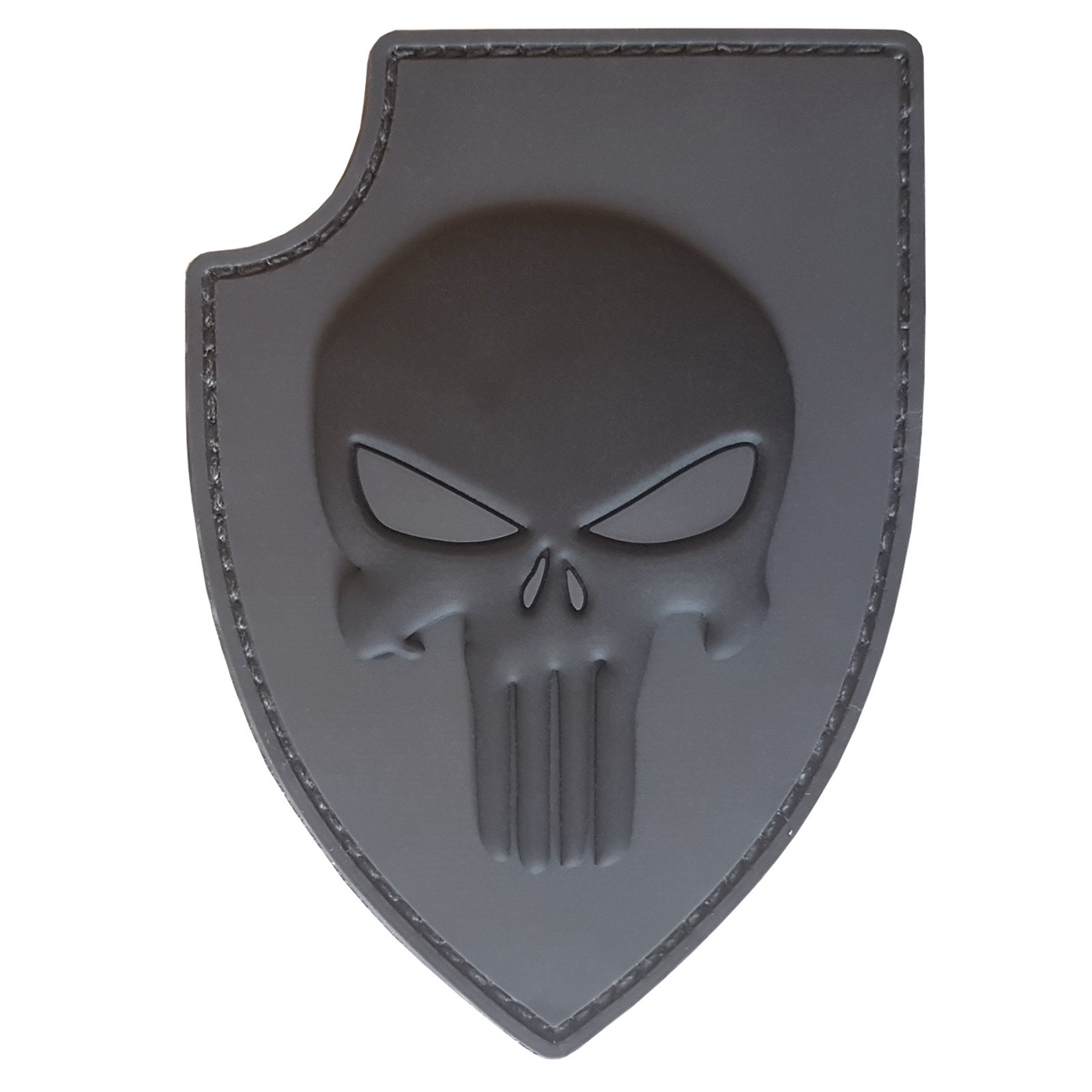ACU Gray PVC 3D Rubber Punisher Skull USA Sealteam DEVGRU Glow Dark Velcro Patch