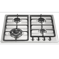 New style stainless steel built in 4 burner gas hob