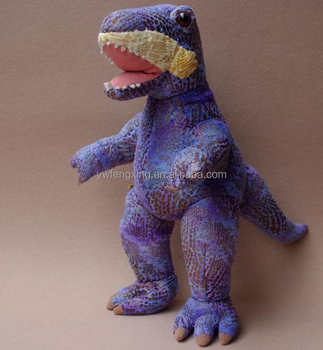 Large Purple Dinosaur Tyrannosaurus Rex Stuffed Animal Plush Toy