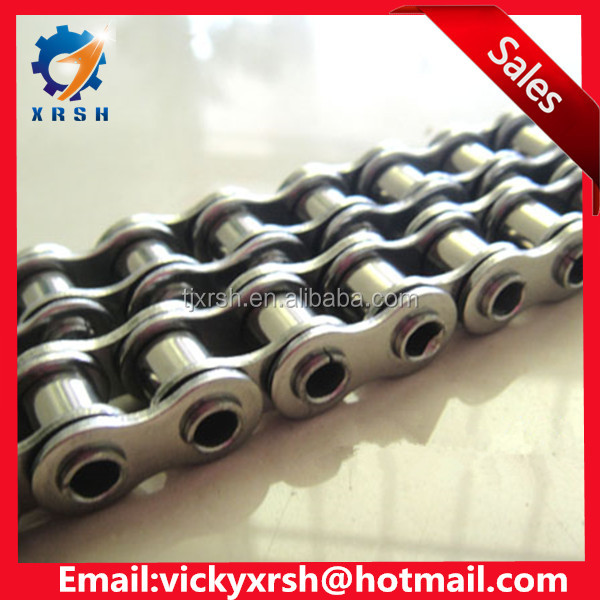 Double strand stainless steel hollow pin roller chain factory