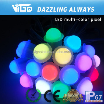 DC12V 26mm LED point light full color pixel waterproof frosted T