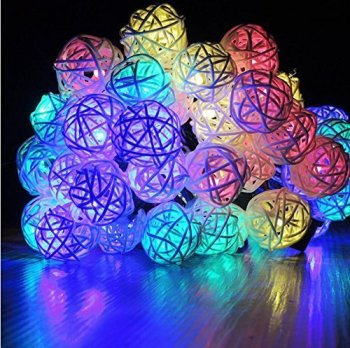 decorative string lighting. Beautiful String Decorative String Lights Rattan Ball Lights Fairy Light 40  Multicolor LED On Lighting G